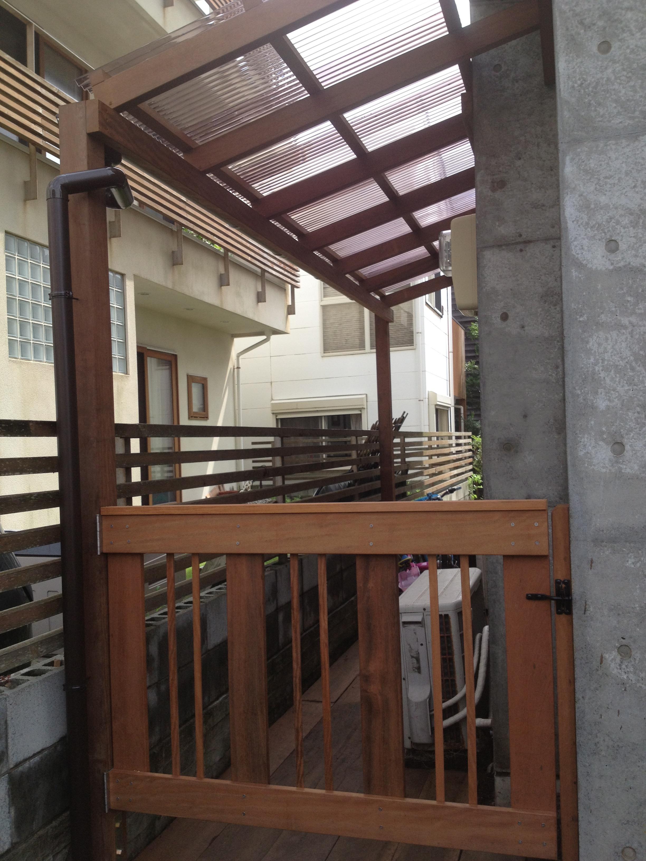 家のデットスペースに屋根をつける vol.2