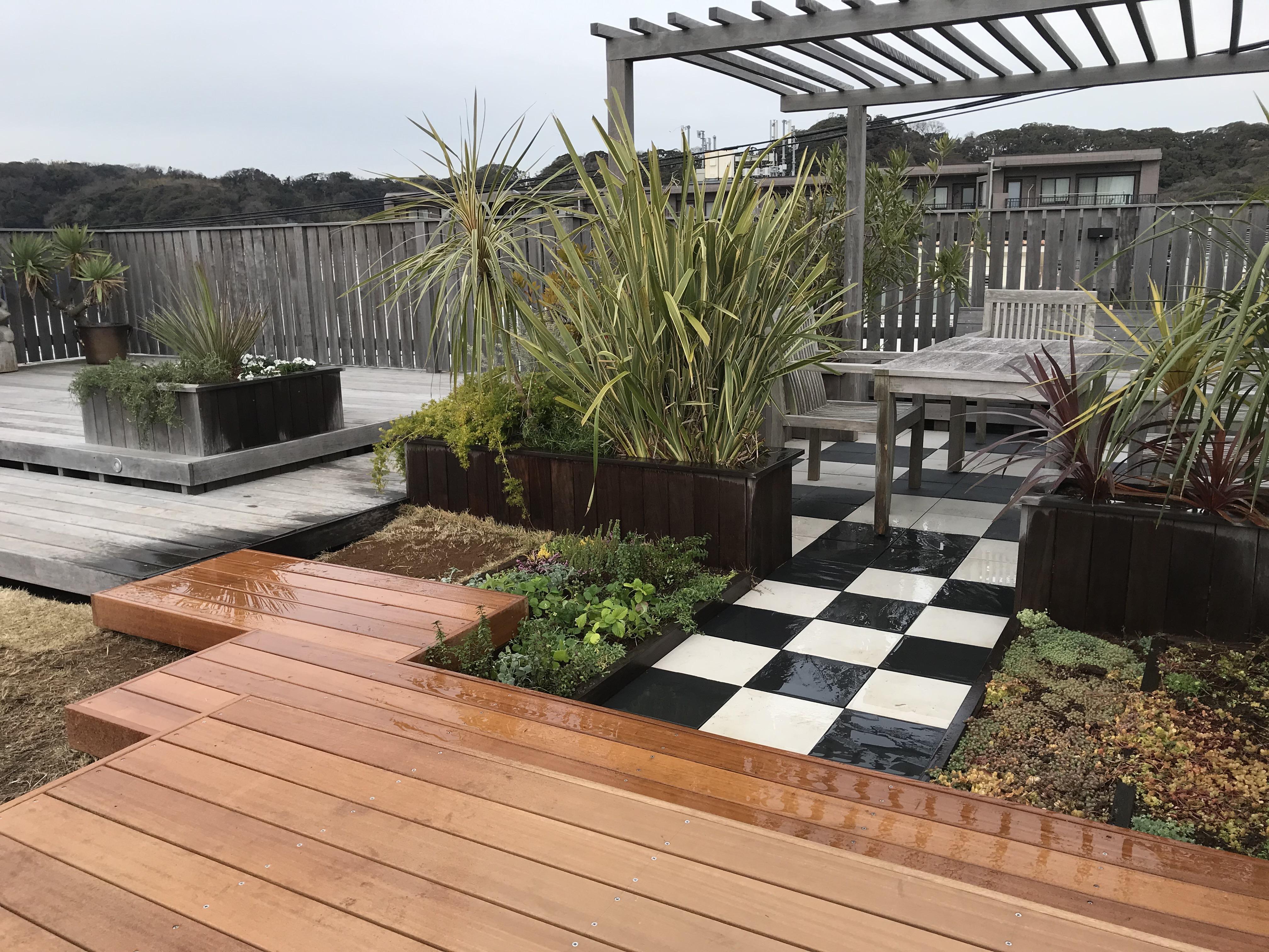屋上ガーデン デッキを追加