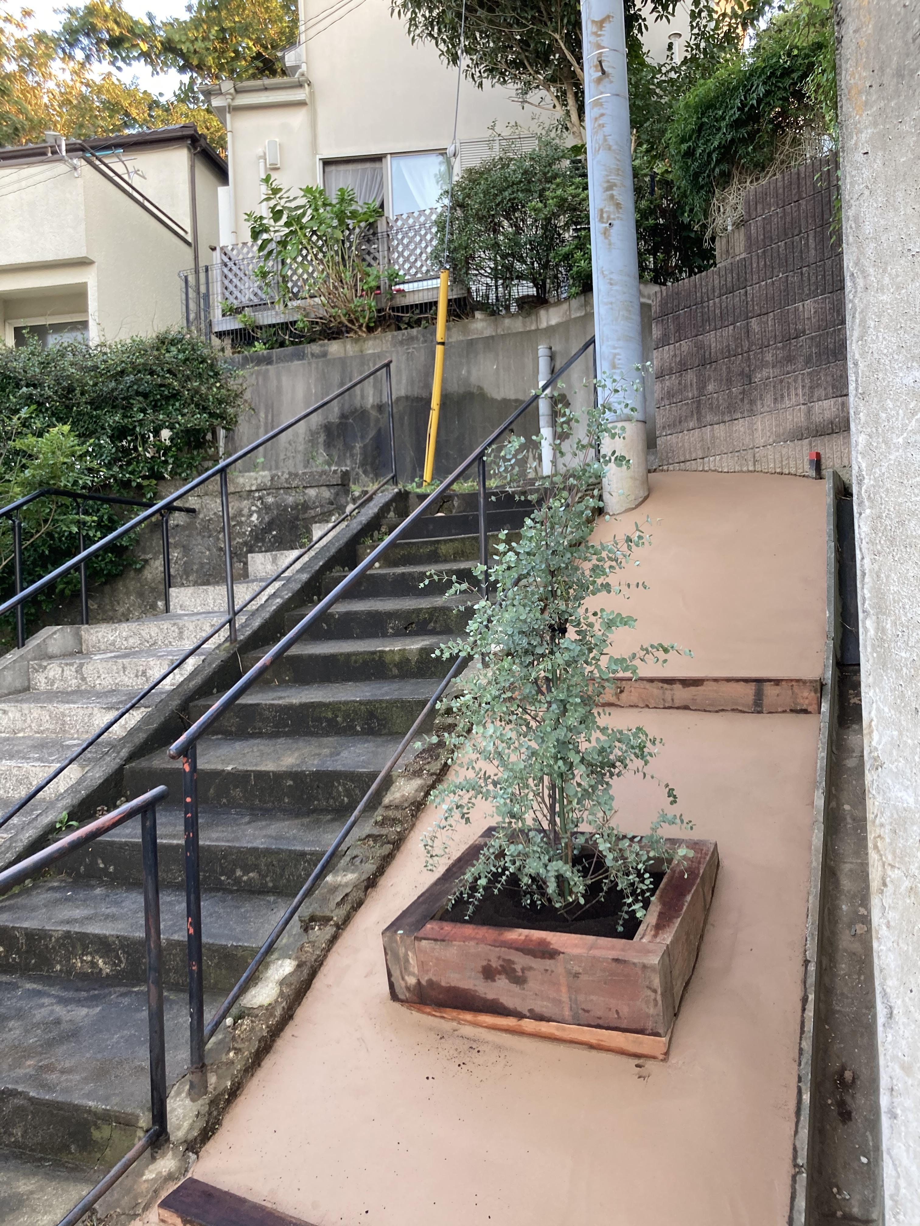 雑草防止にエコグローブ施工